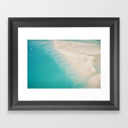 Teal Sands Framed Art Print