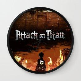 Attack On Titan Wall Clock