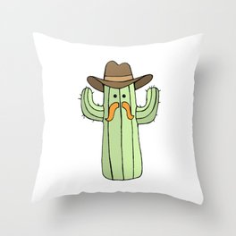 Cowboy Cactus Throw Pillow