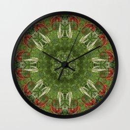Cardinal flower and Culver's root kaleidoscope Wall Clock