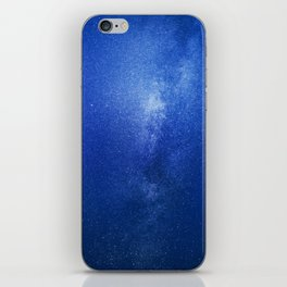 Looking up into the milkyway galaxy iPhone Skin