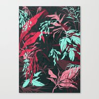 jungle Canvas Prints featuring Jungle by theroyalbubblemaker