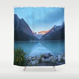 Mountains lake Shower Curtain