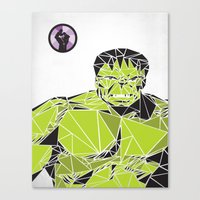 hulk Canvas Prints featuring Hulk by Josh Ln