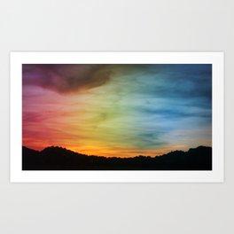 New Mexico Sunset #3 Art Print
