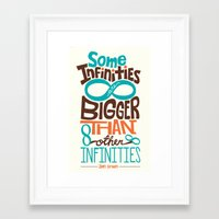 tfios Framed Art Prints featuring Some Infinities TFIOS Quote by digital detours