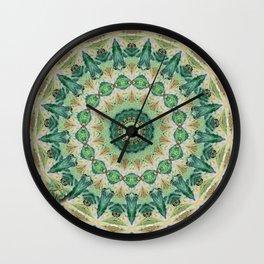 Luna Moth Kaleidoscope Wall Clock