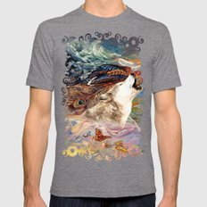 The spirit Wolf Abstract iPhone 4 4s 5 5c 6 7, pillow case, mugs and tshirt Mens Fitted Tee MEDIUM Tri-Grey