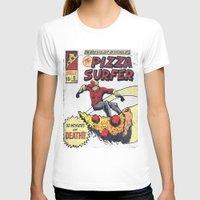 surfer T-shirts featuring Pizza Surfer by Austin Pardun