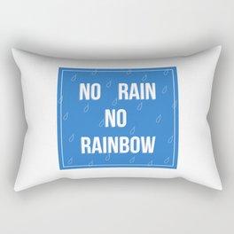 No Rain No Rainbow Rectangular Pillow