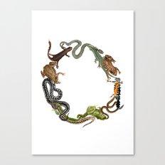 Reptile Wreath Canvas Print