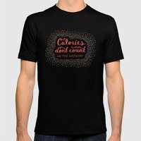Calories Don't Count Black Mens Fitted Tee 2X-LARGE