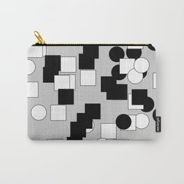 Quadrants end Ellipse's Black and Withe Carry-All Pouch