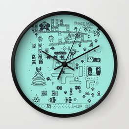 Retro Arcade Mash Up Wall Clock