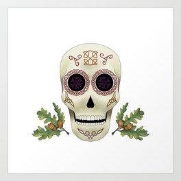 Knotwork Skull Art Print