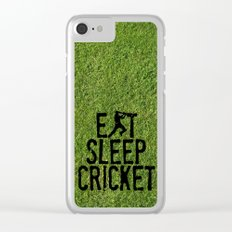 Eat Sleep Cricket Clear iPhone Case