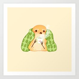 Cozy Canaries- Cocoa Canary  Art Print