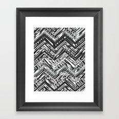 BW ETHNIC CHEVRON Framed Art Print