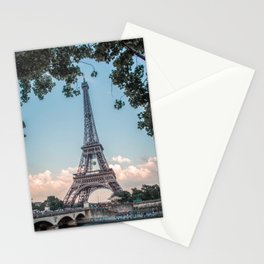 Eiffel Tower During Sunset | City Urban Landscape Photography of Paris France Stationery Cards