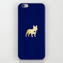 French Bulldog Gold iPhone Skin