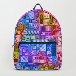 GeoPrint Pattern in color Backpack