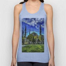 Blue Mosque Istanbul Art Unisex Tank Top