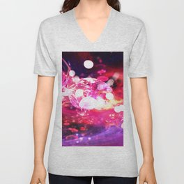 Space Flowers Unisex V-Neck