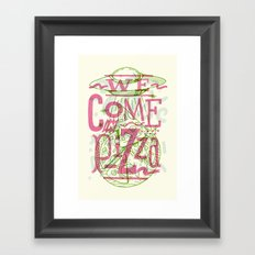 We Come In Pizza Framed Art Print