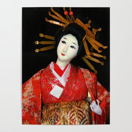 Oiran in Red Poster