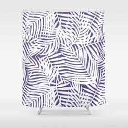 Tropical Purple Leaves Shower Curtain