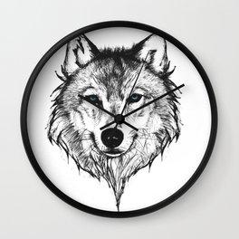 Ghost Wolf Wall Clock