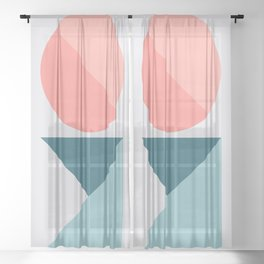 Geometric Form No.1 Sheer Curtain