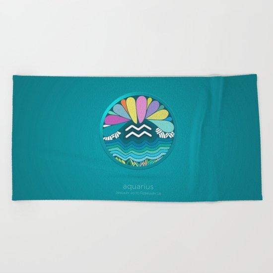 Zodiac Signs (Horoscope) Beach Towel