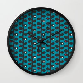 Like a Leaf [blue] Wall Clock