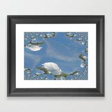 Blue Skies Fractal Framed Art Print