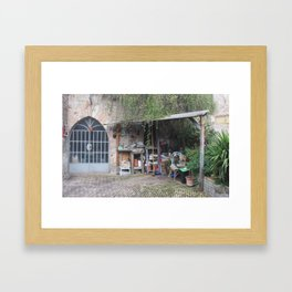 Gardening Shed in Assisi, Italy Framed Art Print