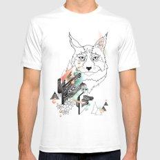 Lynx White MEDIUM Mens Fitted Tee