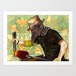 Plague Gaffer Art Print