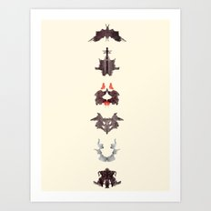 rosrach test Art Print