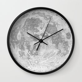 Vintage Map of The Moon (1647) Wall Clock