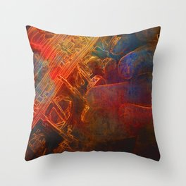 The Color of Music - Sax Throw Pillow