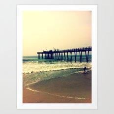 Shore at Dusk Art Print