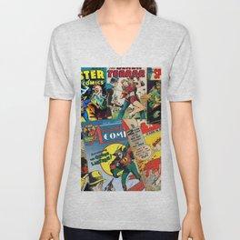 Comics Collage Unisex V-Neck