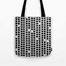 Into the Woods Leaves black Tote Bag