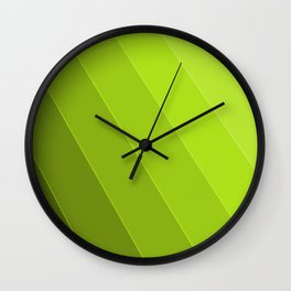 Green Gradient to Light Wall Clock