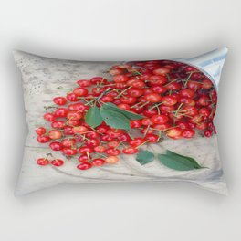 Who Spilled the Cherries! Rectangular Pillow