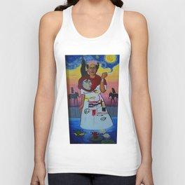 Frida-Basquiat-Van Gogh-Keith Haring-Claude Monet-Dali-Picasso Mesh Unisex Tank Top