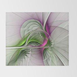 Wild Beauty, Abstract Fractal Art Throw Blanket