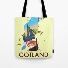 Gotland Viking map. Tote Bag
