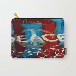 Peace sign red & blue  Carry-All Pouch
